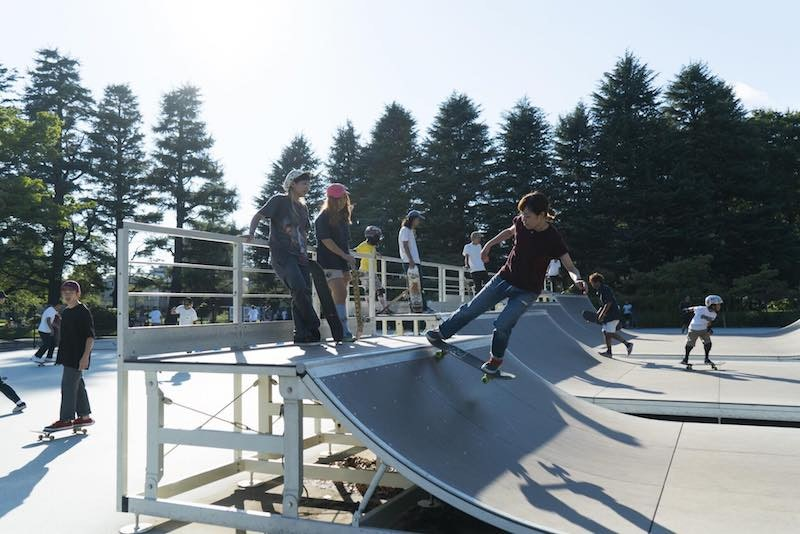 スケートボードの風景の写真