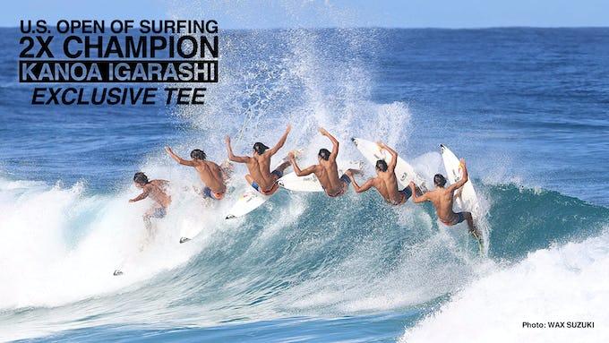 五十嵐カノア選手「U.S OPEN OF SURFING」制覇記念Tシャツが発売開始!